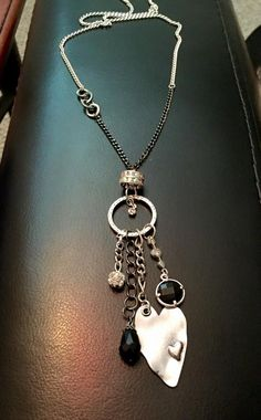 Metal Chain, Glass Pendants, Silver Charms, Handmade Necklaces, Antique Silver, Pendant Necklace, Facebook, My Style, Shop