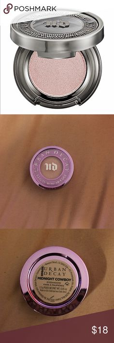 UD Eyeshadow Eyeshadow by Urban Decay in shade Midnight Cowboy (pink champagne shimmer with silver glitter). New, never used. Urban Decay Makeup Eyeshadow