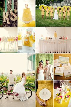 Real Anne Barge Bride - Whimsical Wedding Inspiration Board - Yellow