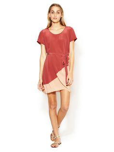 Levana Silk Colorblock Dress by Maje at Gilt