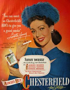 Loretta Young pour Chesterfield.