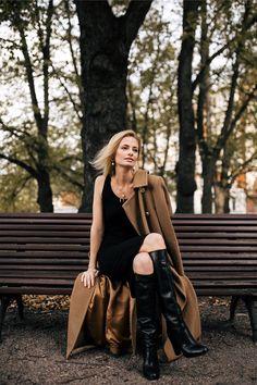 Katri Niskanen : by Sofia Ruutu Equestrian Boots, High Heel Boots, High Heels, Sheer Dress, Casual Looks, Black Boots, Autumn Fashion, Women Wear, Dresses For Work