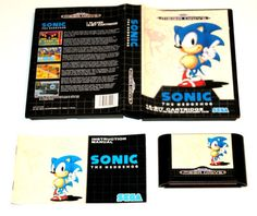 Sega Mega Drive Spiel Sonic The Hedgehog in OVP