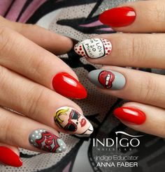 BAD ICON from Indigo Educator Ania Faber #nails #nail #red #bad #icon #hot #nailart #indigo #wow #omg