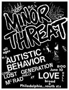 Minor Threat, Autistic Behavior, Lost Generation, and McRAD.