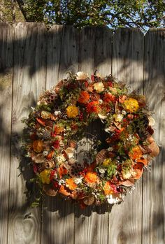 Thanksgiving Wreath  Fall Wreath  Natural Wreath  by forevermore1, $100.00