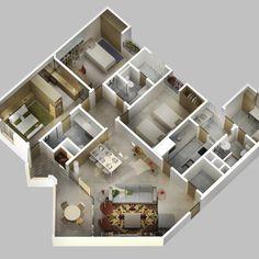 Wow ! Ini Dia Denah Rumah Minimalis Type 45 3 Kamar Terbaru Minimalist House Design, Minimalist Home, Type 45, Projects To Try, Photo Wall, Frame, Interior, Plans, Modern