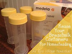 Have storage containers you no longer need? There are many different ways you can reuse #Medela #breastmilk storage products. / Buttermilk Storage using Medela breastmilk storage containers