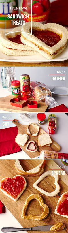 Love PB&J as much as we do? Make your friends and family our True Love Sandwich Treats. These heart-shaped delights are a special and tasty surprise for any loved ones - especially with Valentine's Day coming up!
