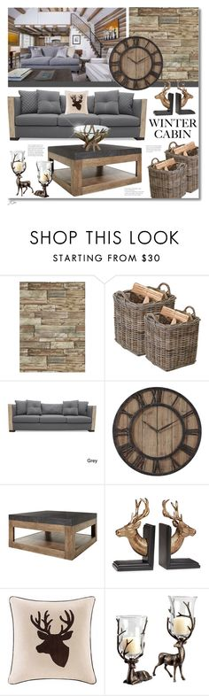 """""""Winter Cabin"""" by jgee67 ❤ liked on Polyvore featuring interior, interiors, interior design, home, home decor, interior decorating, Garden Trading, South Cone, Thayer and Madison Park"""