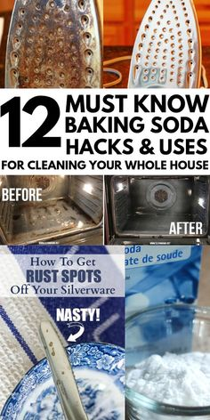 12 Genius Baking Soda Hacks That Will Literally Change Your Life is part of Organization Life Baking Soda - These brilliant baking soda hacks and uses will change the way you clean and will also make you look prettier! Try these baking powder hacks today! Baking Soda Cleaning, Baking Soda Shampoo, Baking Soda Uses, Cleaning Tips, Dry Shampoo, Clarifying Shampoo, Honey Shampoo, Bathroom Cleaning Hacks, Natural Shampoo