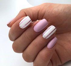 23 Pretty Nail Art Designs for Short Acrylic Nails - 101 NailDesign Short Nail Designs, Best Nail Art Designs, Nail Designs Spring, Spring Design, Chic Nails, Stylish Nails, Jolie Nail Art, Gel Nails, Nail Polish