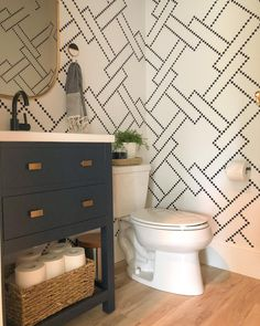 Who else is in love with this look? Get your cuckoo-square stencil exclusively at iStencils! #stenciledwalls #betterthanwallpaper #design  #iStencils #linkinbio Large Stencils, Custom Stencils, Stencil Designs, Stencil Wall Art, Diamond Design, Pattern, Home, Patterns, Ad Home