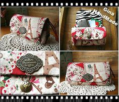 Paris tower Clutch purse Three compartment / coin by GinaHouseDIY, $25.00