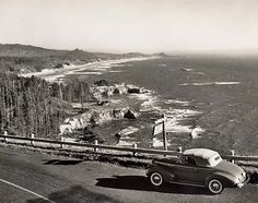 Otter Crest from Cape Foulweather - 1940 - Otter Rock, Oregon