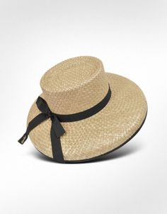 Borsalino Women's Black Ribbon Straw Hat, $160