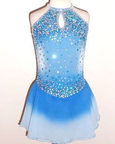 LOVELY FIGURE ICE SKATING DRESS - CUSTOM MADE TO FIT