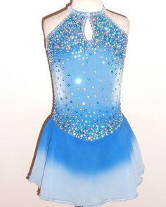 Light blue figure skating dress