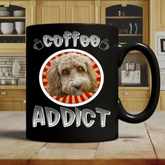 Coffee Addict Doodle Mug