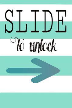 Slide to unlock .Wallpapers iPhone