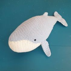 We love this crocheted whale by who used DMC Just Natura Cotton 🐋 Blue Whale, Cotton Crochet, Dinosaur Stuffed Animal, Toys, Animals, Animales, Animaux, Gaming, Animais