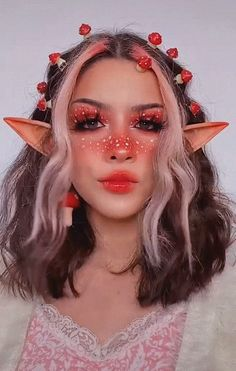 Edgy Makeup, Crazy Makeup, Makeup Inspo, Makeup Art, Makeup Inspiration, Makeup Tips, Cute Makeup Looks, Creative Makeup Looks, Pretty Makeup