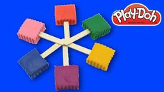 Learn Colors Play Doh Ice Cream - PLAY DOH Stop Motion Videos Frozen Cartoon  Shaping clay