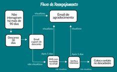 Esse exemplo de fluxo busca entender se o cliente ainda tem interesse nos seus email. Marketing Digital, Inbound Marketing, Behance, Rigs