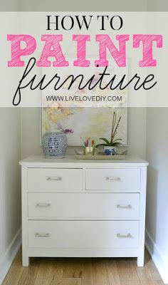 Looking for an easy way to paint old or outdated furniture pieces? Virginia from LiveLoveDIY walks you through her simple DIY process. Start by priming the surface of your furniture with KILZ Primer. This high-quality primer and stain blocker hides unwanted odors and protects your furniture from everyday wear and tear. See how Virginia used her process to transform this thrift store dresser into a sophisticated modern piece.