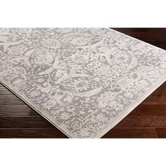 Ophelia & Co. Kirtley Floral Charcoal/Cream Area Rug Rug Size: Rectangle x Hall Runner, Machine Made Rugs, Cream Area Rug, Design Crafts, Rug Size, Area Rugs, Floral, Charcoal, Hardwood Floor