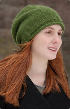 Classic Elite Yarns Fresco Simple Slouchy Hat cute free pattern