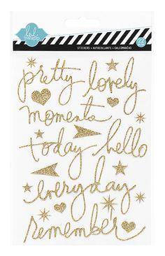 Heidi Swapp - Glitter Word Stickers - Mixed Company at Scrapbook.com