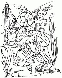 Sea creature coloring pages Tropical fish Free printable and Fish