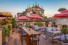 Best Rooftop Bars in Rome, La terrazza del cesari, pantheon