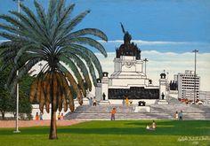 Agostinho Batista de Freitas - Monumento do Ipiranga - Óleo sobre tela - 1983 - 54 x 73 cm