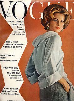 Vintage Vogue magazine covers - mylusciouslife.com - Vintage Vogue January 1962 - Anne de Zogheb.jpg