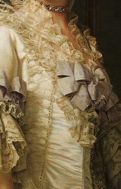 Traveling through history of Art...The Queen Dowager Juliane Marie, detail, by Vigilius Eriksen, 1776.