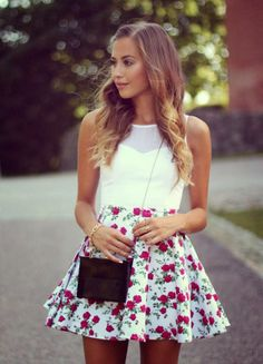 Casual Skirt Outfit For Teens,Movies,Girls,Summer FallSpring Outfit Idea