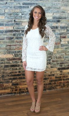 The Pink Lily Boutique - Only In Your Dreams Lace Dress, $42.00 (http://thepinklilyboutique.com/only-in-your-dreams-lace-dress/)