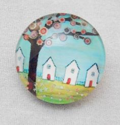 18mm Snap - Garden, Tree, Floral, Houses