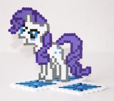 Perler Bead My Little Pony Friendship is Magic arity with Cutie Mark Stand by NerdyNoodleLabs