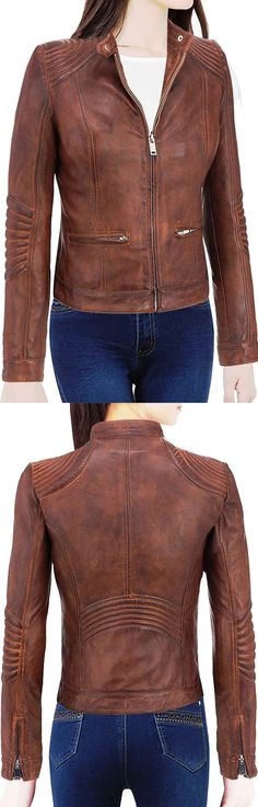 Smart Seller Introduces Once Again Outstanding Edition in Girl's Fashion. Cafe Racer Moto Biker Distressed Brown Vintage Leather Jacket For Girls. Made from Real Leather. It's a Tremendous Attire to Your Importance. You Can Get Easily this Stylish Jacket from Our Online Store.  #bikergirls #girlsfashion #womenfashion #womencollection #parties #casual #womenswear #love #styles #fashionblog #streetstyle #bikers #ravishing #elegant #lovers #fans #sexy #stylish #costume #fashionblog…