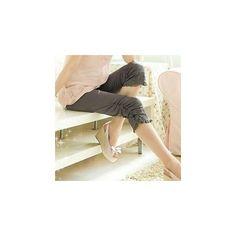 Bow Lace Panel Leggings ($11) ❤ liked on Polyvore featuring pants, leggings, women, gray leggings, rocho, grey pants, grey leggings and bow pants