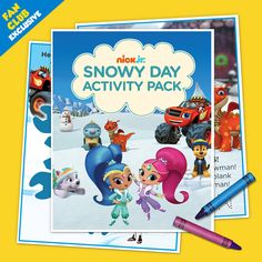 Shimmer and Shine Activity Pack Colouring Pages, Coloring Sheets, Bears Preschool, Shimmer N Shine, Snowy Day, Potty Training, Paw Patrol, Birthday Party Invitations, Kids And Parenting