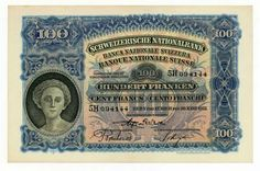 SWITZERLAND 100 FRANCS banknote
