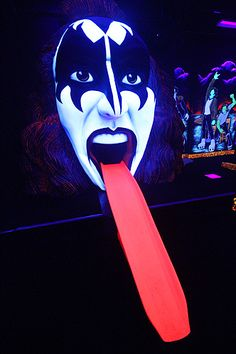 18th hole at the new Kiss-themed mini golf course in Vegas.
