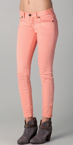 4b9635e7d1f Free People Milenium Cropped Colored Skinny Jeans