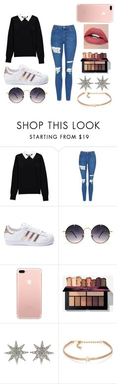 """""""Zendaya Coleman"""" by jenadieu ❤ liked on Polyvore featuring Essentiel, Topshop, adidas, Spitfire, Bee Goddess and Kenneth Jay Lane"""