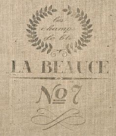 French Grain Sack Reproduction : Image 2 for the dining room chairs