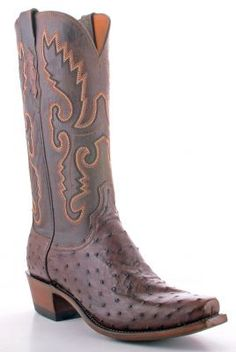 Men's Lucchese Full Quill Ostrich Cowboy Boots (via @Allens Boots)